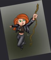 Kim Possible in Leather by rocketdave