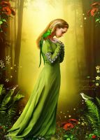 Parrot Lady by AngeliaArt
