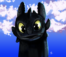Happy Toothless by HaitiKage