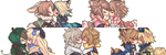 Kissing Icons Commission Batch 3 by Tuliblu