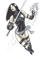 Psylocke Quicksketch by syr1979