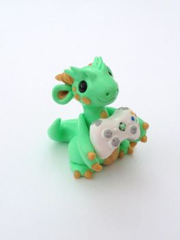 Little Gamer Dragon by Liluri-Creations