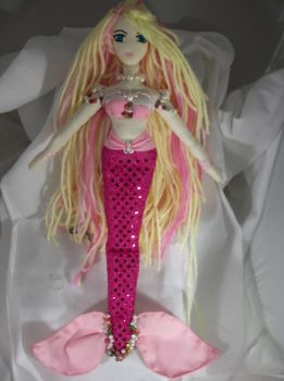 Pink Mermaid-Sabrina by dollmaker88