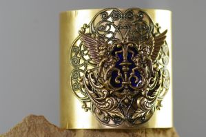 Neo victorian, Crest bangle by MonstersInThewall