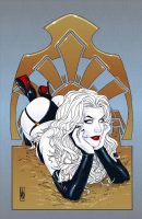Lady Death Art Deco 19 by MDiPascale