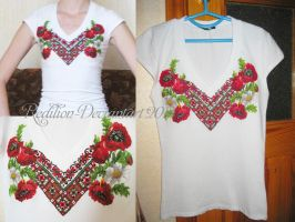 Ukrainian embroidery t-shirt by Redilion