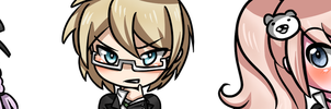 Dangan chibi charms by Meli-Melon