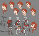 Pageboy model sheet by FutureDami