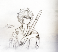 Pencil sketch: Gintoki by eumiii