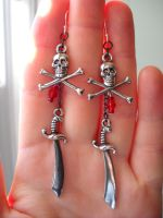 Pirates! earrings revision by Ravenhart