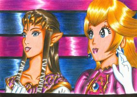 Zelda and Peach - SSBB by Shiranui94