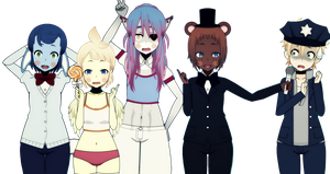 Fnaf 2 - The Toy Collection by Xx-Chellie-Bellie-xX
