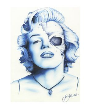 Marilyn Monroe by JeffArnoldArt