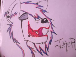 Colored! Joker wolf by prussianwolf13