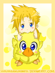 Two Baby Chocobos by darthfilart