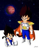 Vegeta e Nightshade by DannyFCool