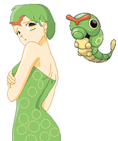 Human Caterpie by Lillianmax