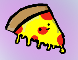 Pizza with cheese or cheese with pizza? by Ueggeu
