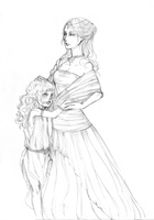 Sketch: distant mother by Myrrie