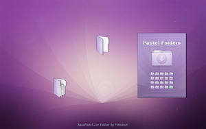 Aqua Pastel Live Folders by PianoArt