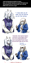 Undertale ask blog: adultery by bPAVLICA