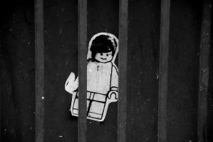 The Jail of Mr. Lego B/W by RakdosS