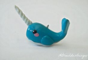 Narwhal Charm by ABlueLotusDesigns