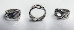 Pseudo-Celtic Silver Ring by Rajala