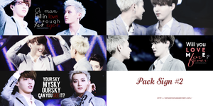 [PACK SIGN #2] KRISTAO - THIS MEAN LOVE by simisation