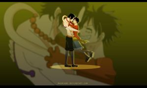 Ace and Luffy by Odrichan