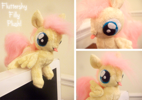 baby fluttershy for sale by lulu-fly