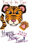 Happy 2010 -Year of the Tiger- by sakura1118