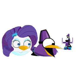 Rarity give Magnifo a Lego version of himself by jared33