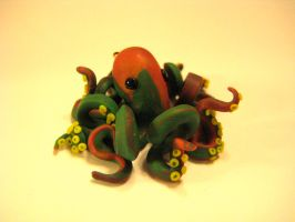 mini bright marbled octopus by clayfriends