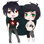 Aaron and Melody Chibis by MaggieMischief