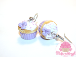 Lilac Cupcake Earrings by Metterschlingel