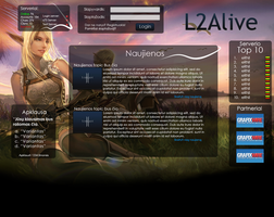 Lineage 2 Web Design by Maelus