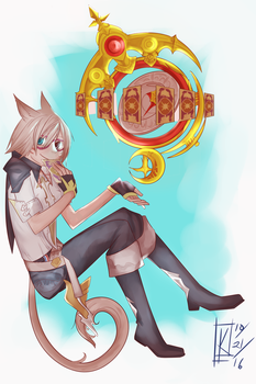 Miqo'te Female AST Commission by Chazia