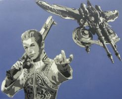 Balthier and the Strahl by BastianWolf