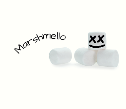Marshmello with Marshmallows by EDM-Artist