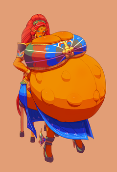 Urbosa's Motherhood by bellydoom