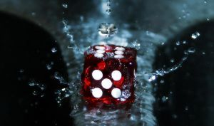 Dice in water by TiPafoli