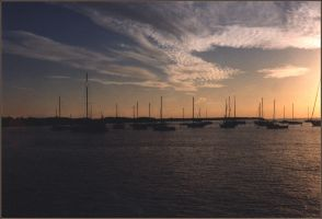 The Harbor at Sunset Two by jezebel