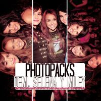 +Demi, Selena y Miley 1. by FantasticPhotopacks