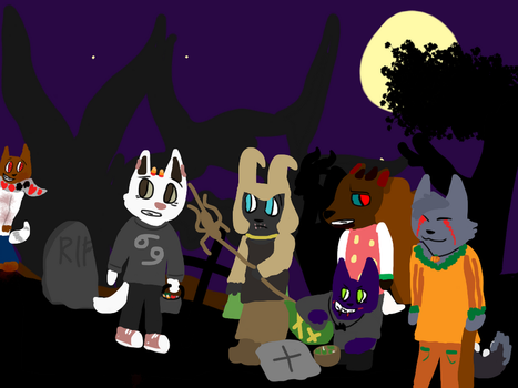 .:LATE:. HALLOWEEN COLLAB by television-static