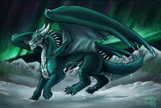 Frost dragon by AeonianDragon76