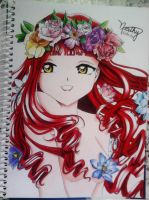Flower Girl 2 - Finished :3~ by Naahchan