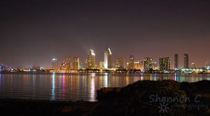 San Diego Skyline at night by ShannonCPhotography