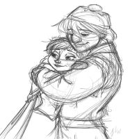 Anna and Kristoff by jenniferpistol309