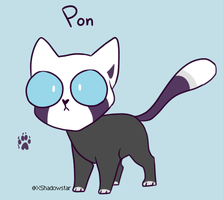 Pon The Unblinking Cat Ref by XShadowstar